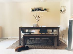 Kitchen Table w/ 4 seats, 1 bench for Sale in Sunnyvale, CA