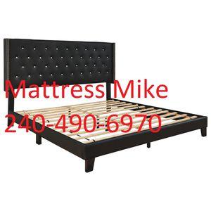 Ashley Furniture Queen size black platform bed frame only for Sale in Beltsville, MD
