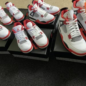 Jordan 4 Retro Fire Red 5 Pairs for Sale in Beverly, NJ