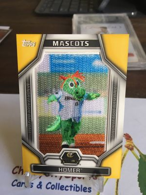 Homer Charlotte Knights 2015 tops pro debut minor league baseball mascot logo patch card for Sale in Salem, OR