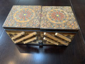 2 Hand Made and Painted wooden boxes made in Poland for Sale in Burr Ridge, IL