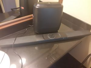 Polk audio sound bar and sub wolfer with siri built in for Sale in Houston, TX