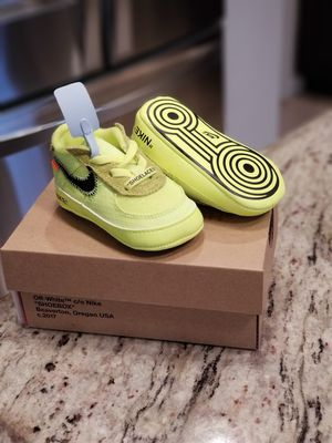 Air Force 1 Low Off-White Volt Infant size 3 for Sale in Springfield, VA