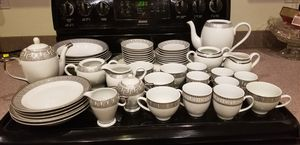 NEW-Never Used 54 pcs of FINE PORCELAIN CHINA - Tea cups, saucers. Serving platter, cream and sugar server, a lot more... for Sale in Phoenix, AZ