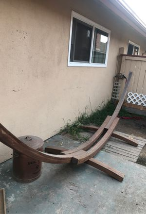 Wood Hammock Stand for Sale in Fountain Valley, CA