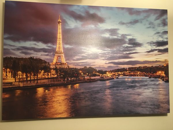 Large Paris Canvas Picture!!