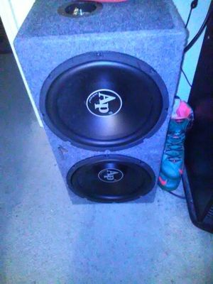 Audio pip speakers with amp for Sale in Durham, NC