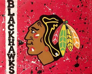 Blackhawks freehand painting for Sale in Fort McDowell, AZ