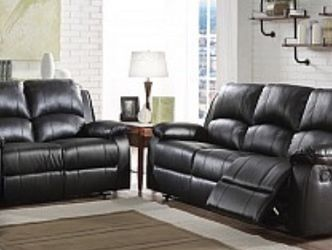 Black Leather Sofa And Loveseat Recliners!! Brand New for Sale in Chicago,  IL