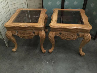 Ornately Carved End Tables - Delivery Available for Sale in Everett,  WA