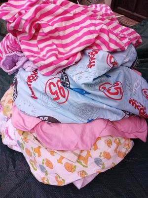 Blankies, crib sheets, burping blankies,blankets, car seat head holders, bassinet sheets for Sale in Paramount, CA