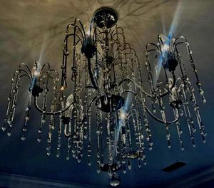 "Crystal Rain 29"" Wide 6-Light Halogen Crystal Chandelier for Sale in Grapevine, TX"