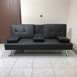 $190 (new in box) convertible folding futon sofa bed recliner couch 65x30x31 inches, max 500 lbs for Sale in Whittier,  CA