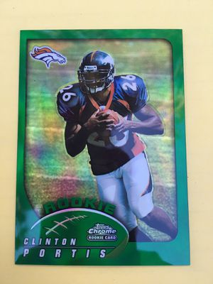 CLINTON PORTIS R.C • 2002 TOPPS CHROME GREEN REFRACTOR PARALELL # 181 • BRONCOS • for Sale in Villa Park, CA