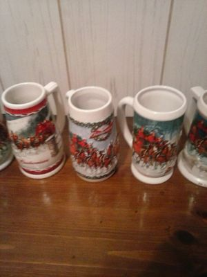 6-Budweiser steins for Sale in US