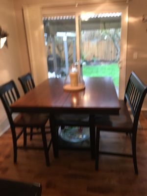 Bar Counter height table bench 6 chairs for Sale in Gresham, OR
