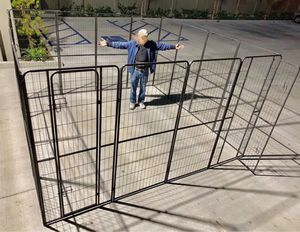 New in box 72 inch or 6 feet tall x 32 inches wide each panel x 16 panels exercise playpen fence safety gate dog cage crate kennel for Sale in Baldwin Park, CA