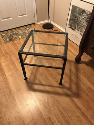 Small metal and glass table with shelf for Sale in Houston, TX