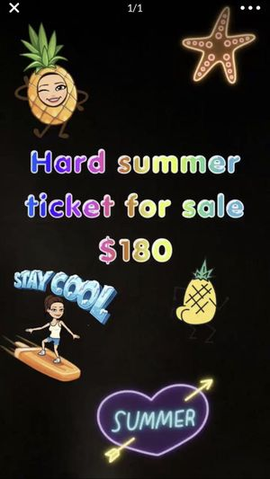 Hard Summer 2019 2 day pass GA for Sale in West Covina, CA