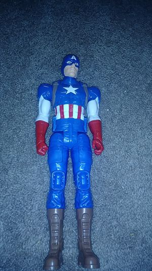 Captain america action figure opened but never used great condition for Sale in Clermont, FL