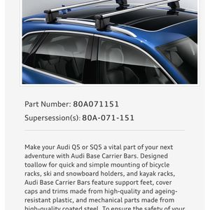 Brand New 2021 OEM Factory Audi Q5 Roof Rack for Sale in Fort Lauderdale, FL