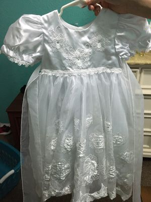Vestido blanco para bautizo de 3 años/ white dress for baptism 3year old for Sale in Grand Prairie, TX