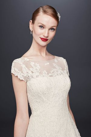 Oleg Cassini Cap Sleeve Illusion Wedding Dress for Sale in Las Vegas, NV