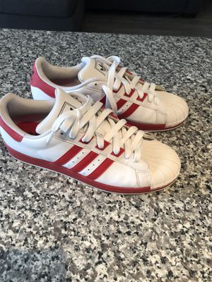 Red and white adidas original shoes, size 12. Good condition for Sale in Spring, TX