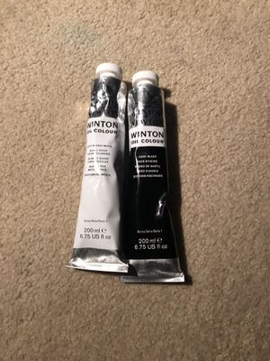 Winton black and white oil paints for Sale in Johnstown, NY
