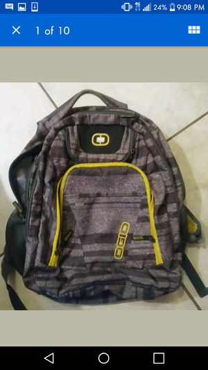 Ogio Backpack Gray & Yellow Laptop Tablet Padded Water Net for Sale in Spring, TX