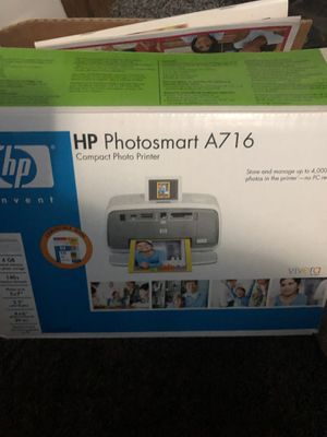 Hp photosmart A716 digital photo inkjet printer brand new and includes HP camera!! for Sale in Kansas City, MO