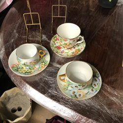 3 Teacups... Collectable No Chips With 2 Stands (Bavarian, Staffordshire Germany RIS) for Sale in Kennesaw,  GA
