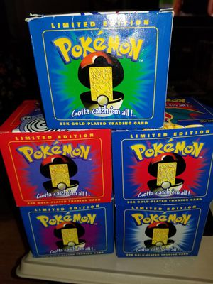 Pokemon limited edition 23k gold-plated trading cards for Sale in Middletown, NJ