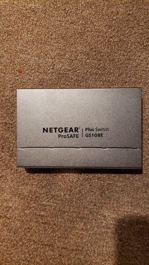 Netgear prosafe plus. Model - GS108E for Sale in Bensalem, PA
