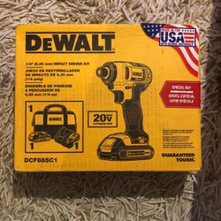 NIB DeWalt DCF885C1 Impact Driver Kit for Sale in Queens,  NY