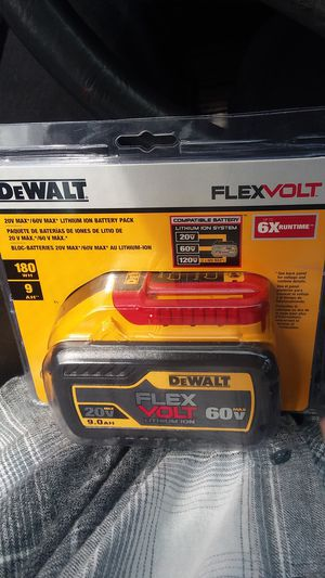 New In Package DeWALT 6.0Ah Flexvolt Battery for Sale in Hillsboro, OR