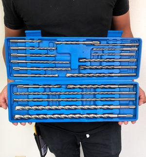 New $30 Tool Set 20pcs SDS Plus Rotary Hammer Drill Bits Concrete Masonry Hole Universal for Sale in El Monte, CA