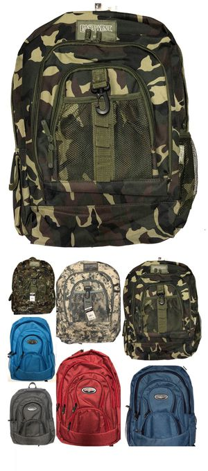 NEW! Camouflage Backpack book bag laptop computer bag back to school travel bag carry on gym bag camping hiking trekking molle work bag for Sale in Carson, CA