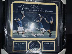 Roger Federer 4x U.S. OPEN Signed Collage with Authenticity for Sale in San Jose, CA