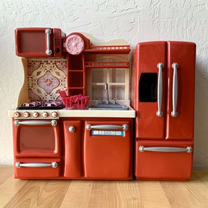 Battat Our Generation Red Gourmet Toy Kitchen Set W/Accessories, Food And Dishes. Fits American Girl Dolls for Sale in Elizabethtown, PA