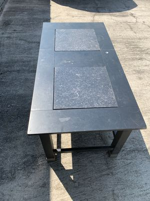 Coffee Table w/ Granite Inserts for Sale in Spring, TX