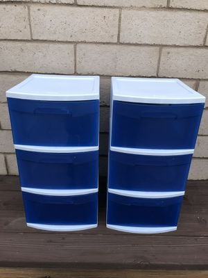 (2) Four Drawer Storage Containers for Sale in Corona, CA