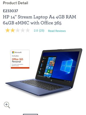 Hp 14 Stream windows versions. Blue new unopened box for Sale in Springfield, MA