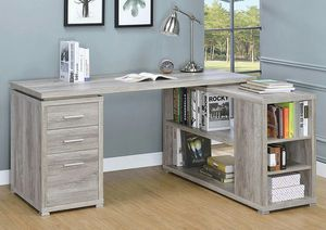 L-Shaped Office Desk, Dark Taupe for Sale in Garden Grove, CA