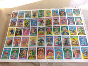 1985 Garbage Pail kids uncut series 2 sticker sheet in great shape, rare find for Sale in Mesquite, TX