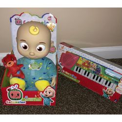 NEW Cocomelon Musical Keyboard Piano Toy JJ Play And Sing Along & JJ Plush Doll for Sale in La Puente,  CA