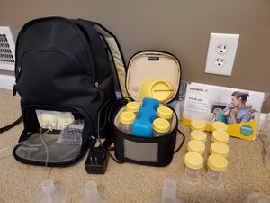 Medela Pump in Style Advanced Breast Pump with Backpack + extras! for Sale in Lincoln, NE