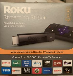 Roku 4K Ultra HD HDR Media Streaming Stick+ with Voice Remote - 3810R for Sale in Phoenix, AZ
