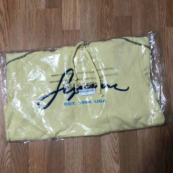 Supreme - Contrast Embroidered Hoodie (SS19) - Yellow - Medium