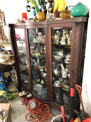 Antique Stackable Bookcases, glassware, dishes, many goebel figurines for Sale in Medford Lakes, NJ